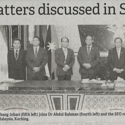 1 Hq Project Among Matters Discussed In Sfo Meeting With Cm The Borneo Post. Pg4